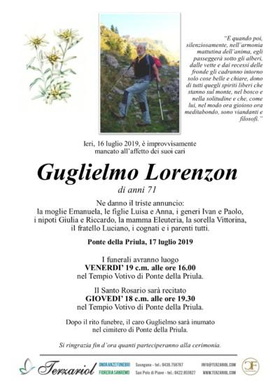 epigrafe Lorenzon Guglielmo