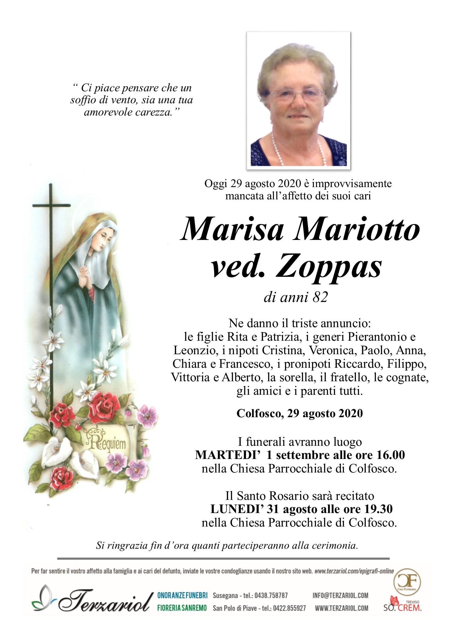 Epigrafe Mariotto Marisa