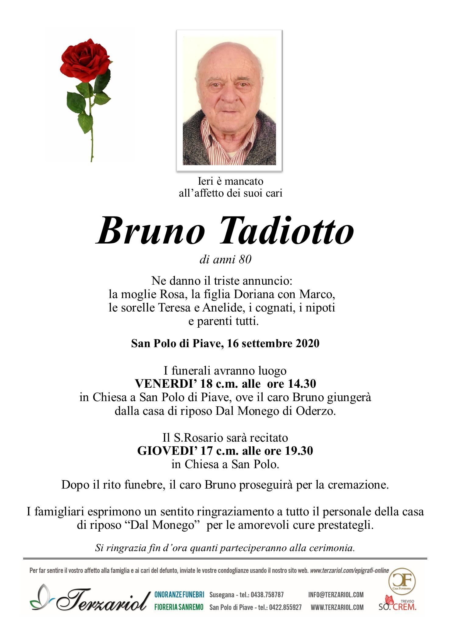 Epigrafe Tadiotto Bruno