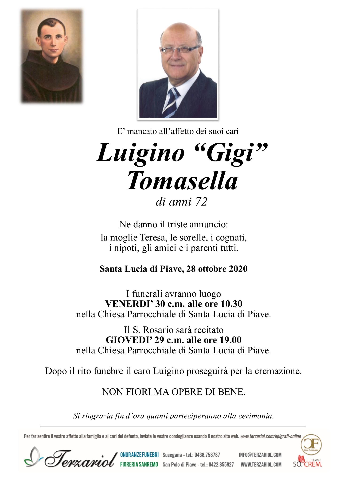 Epigrafe Luigino Tomasella