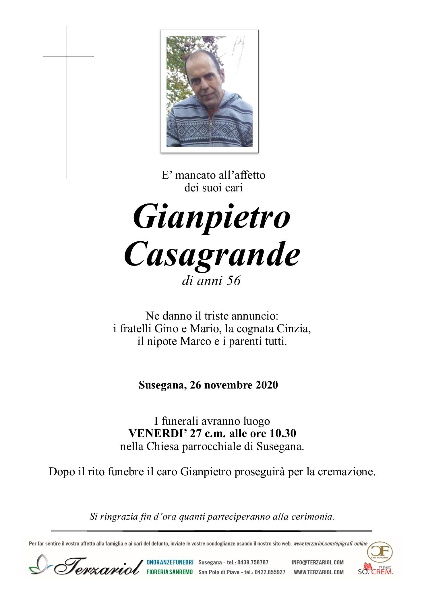 epigrafe Gianpietro Casagrande