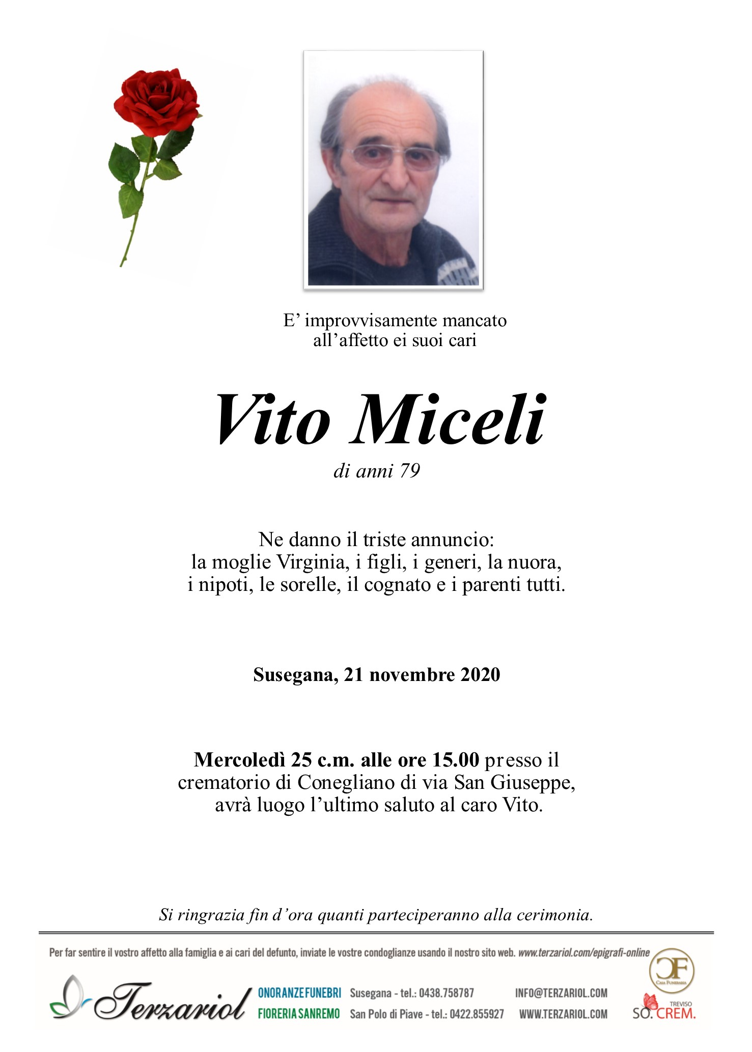 Epigrafe Miceli Vito