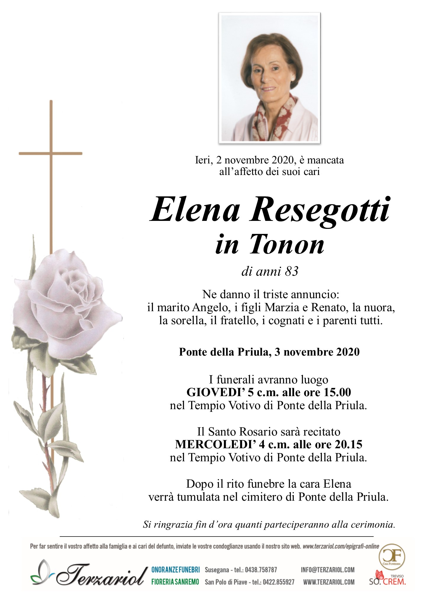 Epigrafe Resegotti Elena